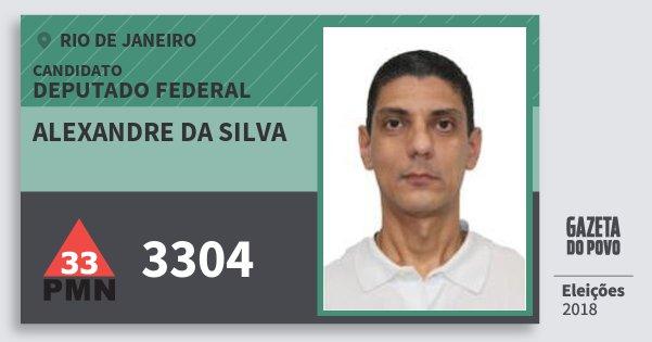 Santinho Alexandre da Silva 3304 (PMN) Deputado Federal | Rio de Janeiro | Eleições 2018