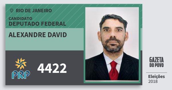 Santinho Alexandre David 4422 (PRP) Deputado Federal | Rio de Janeiro | Eleições 2018