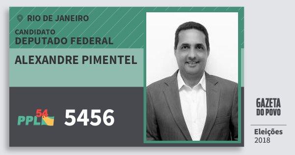 Santinho Alexandre Pimentel 5456 (PPL) Deputado Federal | Rio de Janeiro | Eleições 2018
