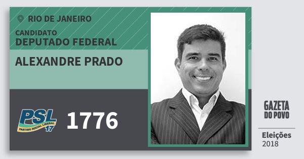 Santinho Alexandre Prado 1776 (PSL) Deputado Federal | Rio de Janeiro | Eleições 2018