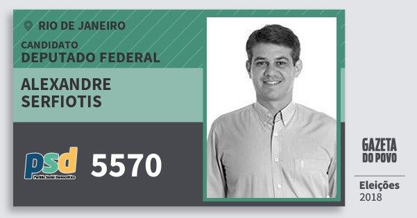 Santinho Alexandre Serfiotis 5570 (PSD) Deputado Federal | Rio de Janeiro | Eleições 2018