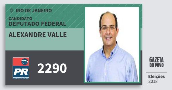 Santinho Alexandre Valle 2290 (PR) Deputado Federal | Rio de Janeiro | Eleições 2018