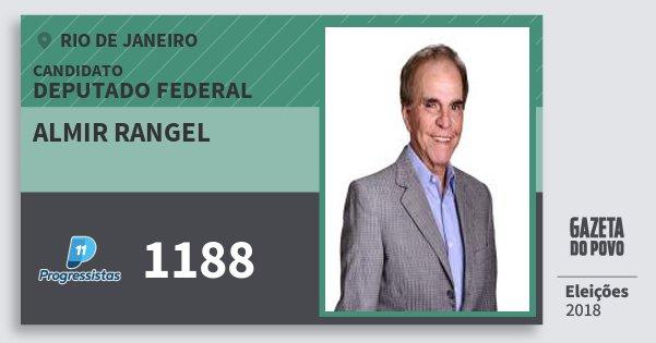 Santinho Almir Rangel 1188 (PP) Deputado Federal | Rio de Janeiro | Eleições 2018