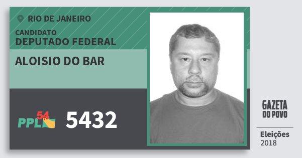 Santinho Aloisio do Bar 5432 (PPL) Deputado Federal | Rio de Janeiro | Eleições 2018