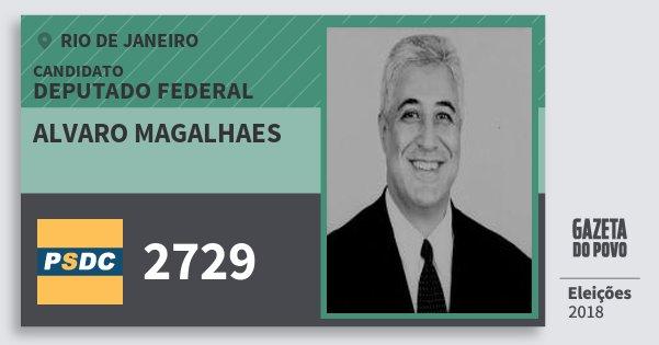 Santinho Alvaro Magalhaes 2729 (DC) Deputado Federal | Rio de Janeiro | Eleições 2018