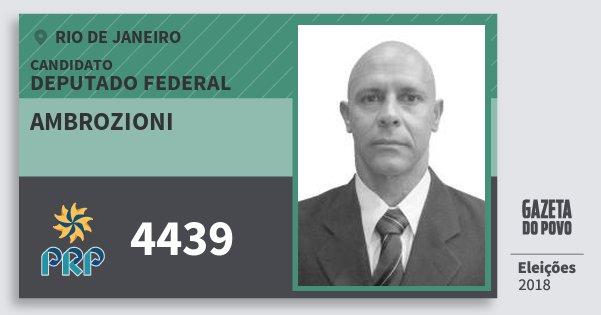 Santinho Ambrozioni 4439 (PRP) Deputado Federal | Rio de Janeiro | Eleições 2018