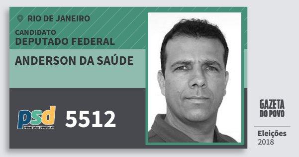 Santinho Anderson da Saúde 5512 (PSD) Deputado Federal | Rio de Janeiro | Eleições 2018