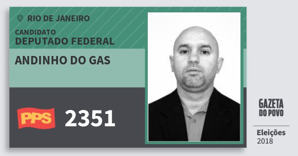 Santinho Andinho do Gas 2351 (PPS) Deputado Federal | Rio de Janeiro | Eleições 2018