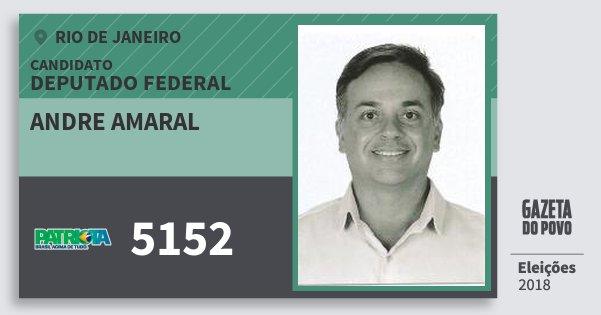 Santinho Andre Amaral 5152 (PATRI) Deputado Federal | Rio de Janeiro | Eleições 2018
