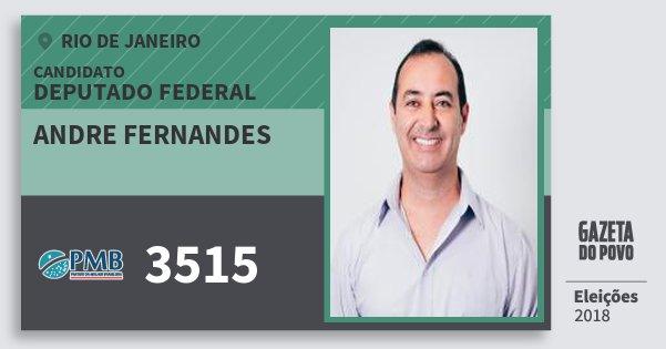 Santinho Andre Fernandes 3515 (PMB) Deputado Federal | Rio de Janeiro | Eleições 2018