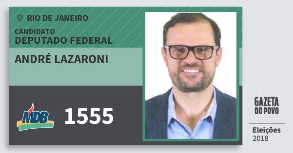 Santinho André Lazaroni 1555 (MDB) Deputado Federal | Rio de Janeiro | Eleições 2018