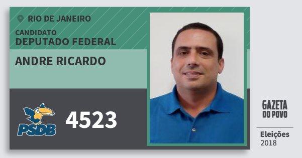 Santinho Andre Ricardo 4523 (PSDB) Deputado Federal | Rio de Janeiro | Eleições 2018