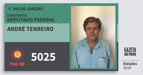 Santinho André Tenreiro 5025 (PSOL) Deputado Federal | Rio de Janeiro | Eleições 2018