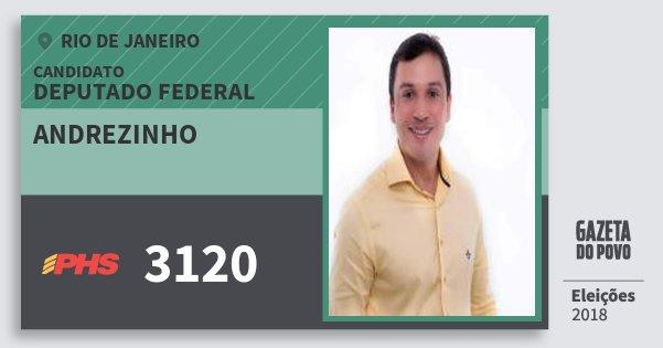 Santinho Andrezinho 3120 (PHS) Deputado Federal | Rio de Janeiro | Eleições 2018