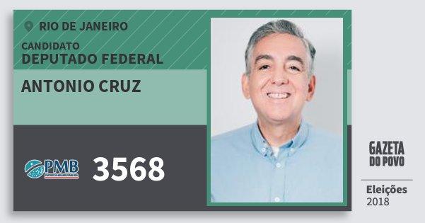 Santinho Antonio Cruz 3568 (PMB) Deputado Federal | Rio de Janeiro | Eleições 2018