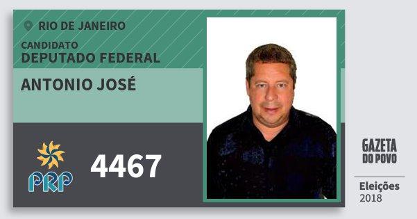 Santinho Antonio José 4467 (PRP) Deputado Federal | Rio de Janeiro | Eleições 2018