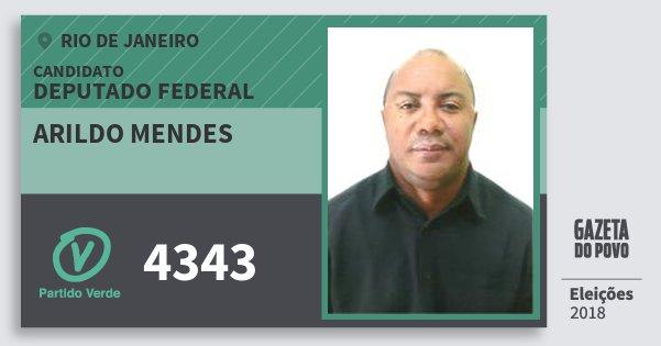 Santinho Arildo Mendes 4343 (PV) Deputado Federal | Rio de Janeiro | Eleições 2018