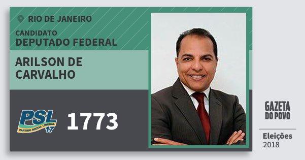 Santinho Arilson de Carvalho 1773 (PSL) Deputado Federal | Rio de Janeiro | Eleições 2018