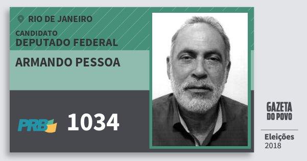 Santinho Armando Pessoa 1034 (PRB) Deputado Federal | Rio de Janeiro | Eleições 2018