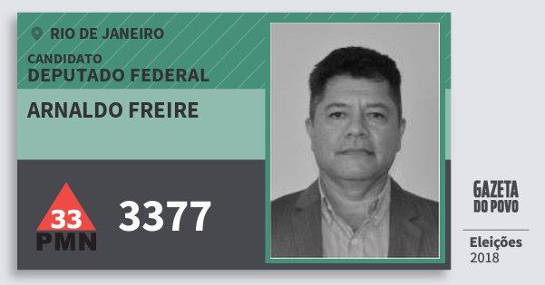 Santinho Arnaldo Freire 3377 (PMN) Deputado Federal | Rio de Janeiro | Eleições 2018