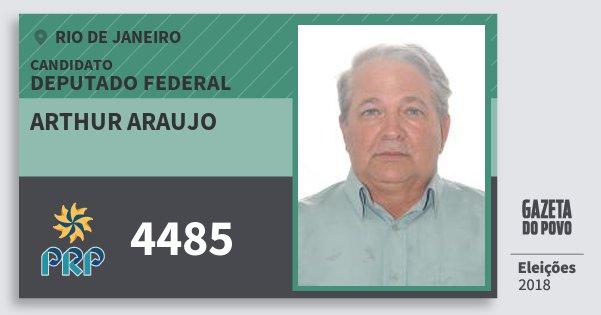 Santinho Arthur Araujo 4485 (PRP) Deputado Federal | Rio de Janeiro | Eleições 2018