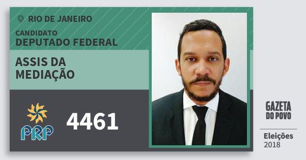 Santinho Assis da Mediação 4461 (PRP) Deputado Federal | Rio de Janeiro | Eleições 2018