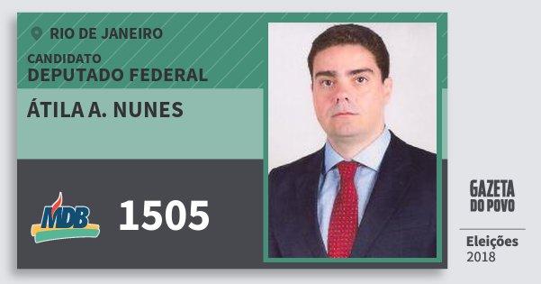 Santinho Átila A. Nunes 1505 (MDB) Deputado Federal | Rio de Janeiro | Eleições 2018