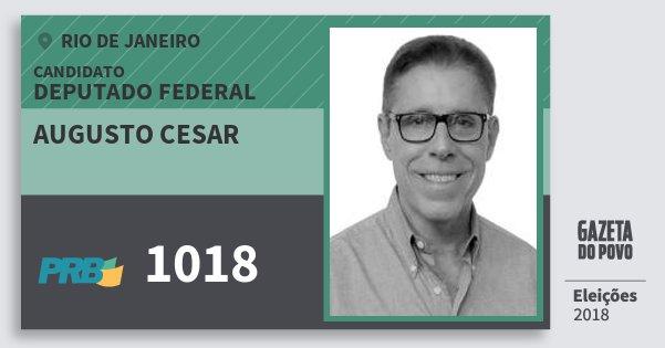 Santinho Augusto Cesar 1018 (PRB) Deputado Federal | Rio de Janeiro | Eleições 2018
