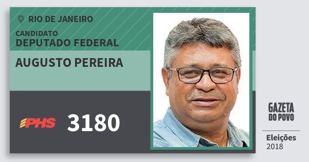 Santinho Augusto Pereira 3180 (PHS) Deputado Federal | Rio de Janeiro | Eleições 2018