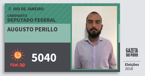 Santinho Augusto Perillo 5040 (PSOL) Deputado Federal | Rio de Janeiro | Eleições 2018