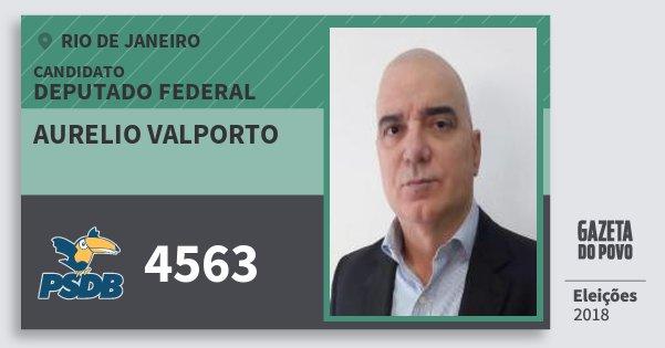 Santinho Aurelio Valporto 4563 (PSDB) Deputado Federal | Rio de Janeiro | Eleições 2018