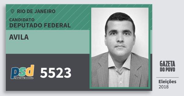 Santinho Avila 5523 (PSD) Deputado Federal | Rio de Janeiro | Eleições 2018
