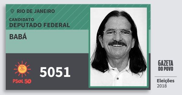 Santinho Babá 5051 (PSOL) Deputado Federal | Rio de Janeiro | Eleições 2018