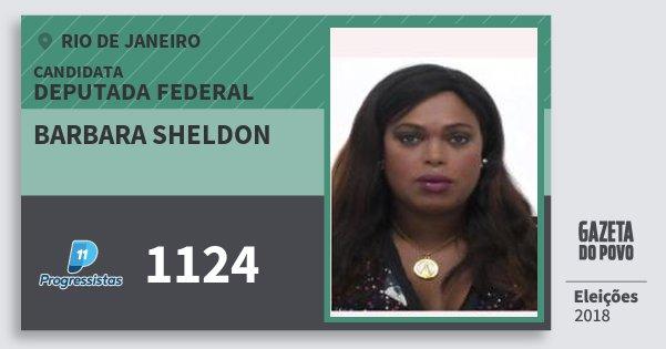 Santinho Barbara Sheldon 1124 (PP) Deputada Federal | Rio de Janeiro | Eleições 2018