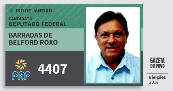 Santinho Barradas de Belford Roxo 4407 (PRP) Deputado Federal | Rio de Janeiro | Eleições 2018