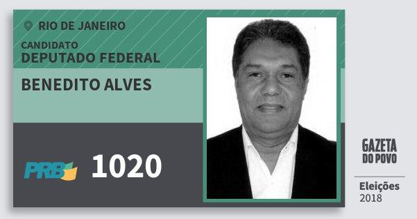 Santinho Benedito Alves 1020 (PRB) Deputado Federal | Rio de Janeiro | Eleições 2018