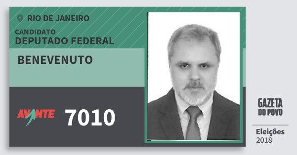 Santinho Benevenuto 7010 (AVANTE) Deputado Federal | Rio de Janeiro | Eleições 2018