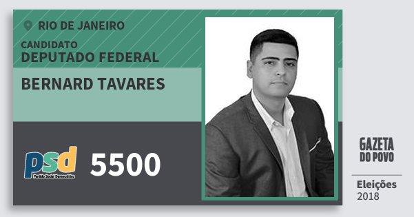 Santinho Bernard Tavares 5500 (PSD) Deputado Federal | Rio de Janeiro | Eleições 2018