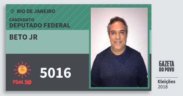 Santinho Beto Jr 5016 (PSOL) Deputado Federal | Rio de Janeiro | Eleições 2018