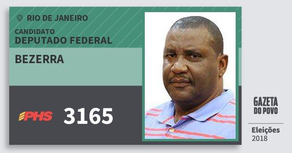 Santinho Bezerra 3165 (PHS) Deputado Federal | Rio de Janeiro | Eleições 2018