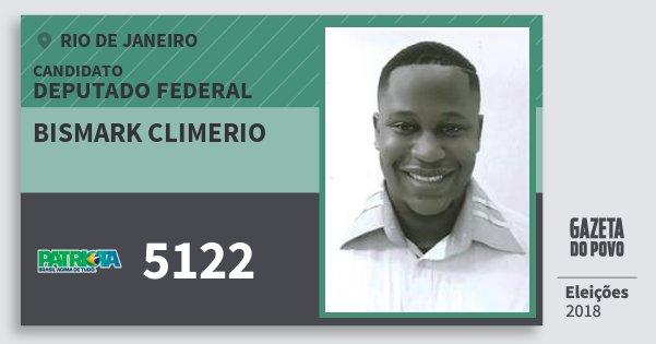 Santinho Bismark Climerio 5122 (PATRI) Deputado Federal | Rio de Janeiro | Eleições 2018