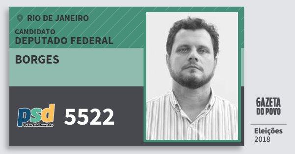 Santinho Borges 5522 (PSD) Deputado Federal | Rio de Janeiro | Eleições 2018
