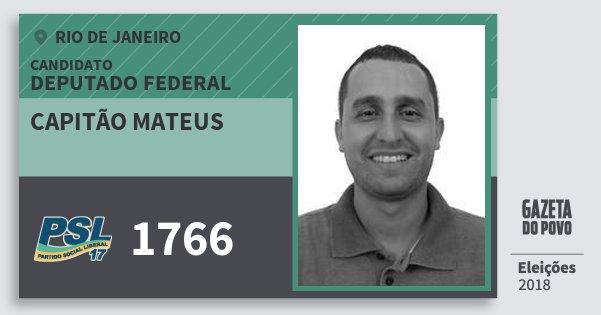 Santinho Capitão Mateus 1766 (PSL) Deputado Federal | Rio de Janeiro | Eleições 2018