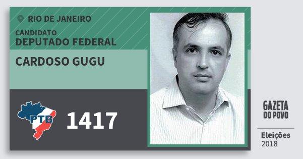 Santinho Cardoso Gugu 1417 (PTB) Deputado Federal | Rio de Janeiro | Eleições 2018