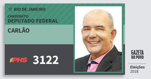 Santinho Carlão 3122 (PHS) Deputado Federal | Rio de Janeiro | Eleições 2018