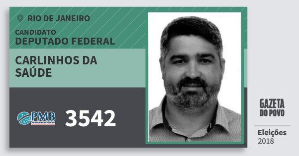 Santinho Carlinhos da Saúde 3542 (PMB) Deputado Federal | Rio de Janeiro | Eleições 2018