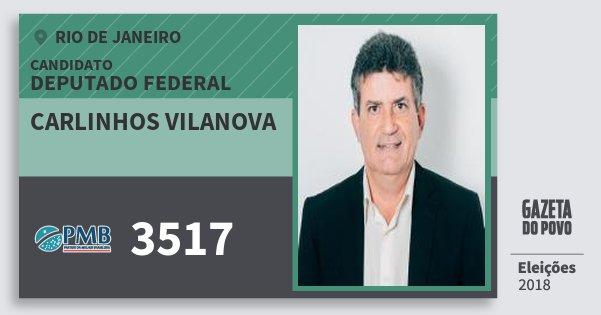 Santinho Carlinhos Vilanova 3517 (PMB) Deputado Federal | Rio de Janeiro | Eleições 2018