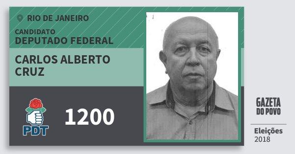 Santinho Carlos Alberto Cruz 1200 (PDT) Deputado Federal | Rio de Janeiro | Eleições 2018