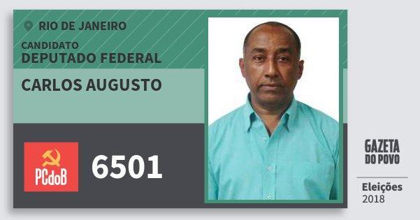 Santinho Carlos Augusto 6501 (PC do B) Deputado Federal | Rio de Janeiro | Eleições 2018