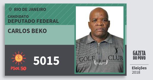 Santinho Carlos Beko 5015 (PSOL) Deputado Federal | Rio de Janeiro | Eleições 2018
